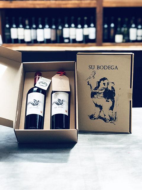 Estuche cartón vinos Mythic